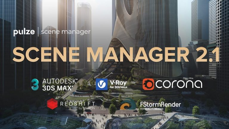 Pulze has announced the latest version of its Scene Manager plugin for 3ds Max. New features in version 2.1 include: The addition of Daylight System properties. Improved Color Correction map support and added specific properties. Added option to** copy and paste** module settings between setups. Added UserName and PcName option to output modules. Added pick selected map to Environment and Dome modules. Fixed issue related to the application of special characters in the names of camera, light, object, layer and map. Fixed issue with frozen camera or light module after merging objects with the same name. Fixed several bugs in the environment, dome and hdri modules. Pulze Scene Manager costs £9 per month or £70 per year. Find out more on the Pulze blog.